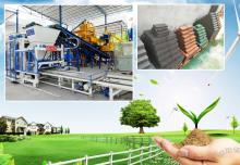 全自动水泥砖制砖机:有一种未来叫绿色
